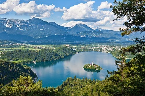 Lake Bled with the island