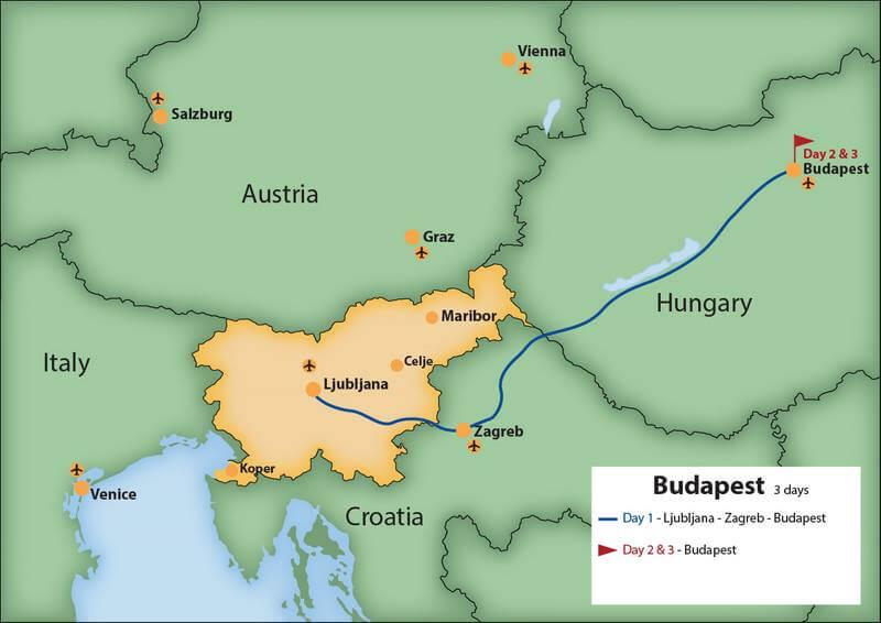 Ljubljana To Budapest Via Zagreb 3 Days Go To Slovenia Travel