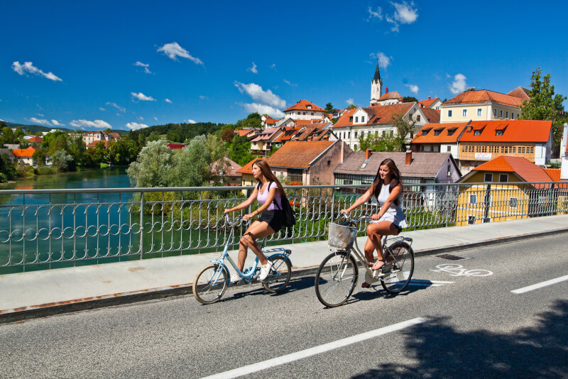 Novo mesto city tour bike tour, Slovenia city tours, photo credit Jošt Gantar