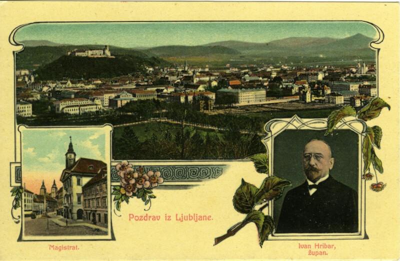 Ivan Hribar, ljubljanski zupan, ogled Ljubljane