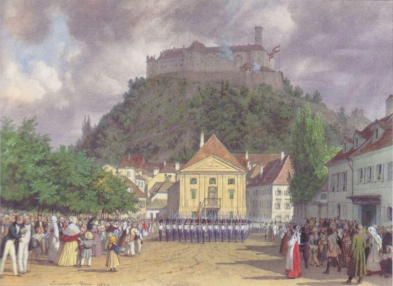 Ljubljana congress 1821, Ljubljnaski kongres 1821, voden ogled